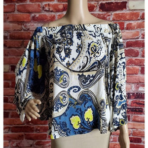Rachel Rachel Roy Off Shoulder Boho Blouse Small